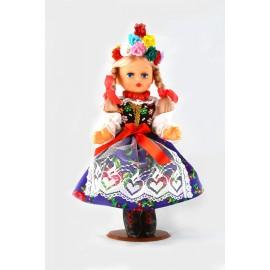 Lalka Krakowianka 30 cm szafirowa